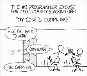 Compilando cortesia de xkcd.com